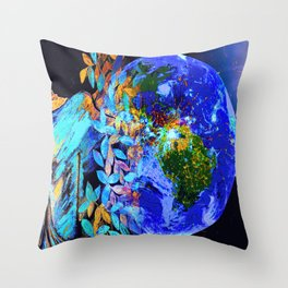 Lost Between the Earth and the Mon Throw Pillow