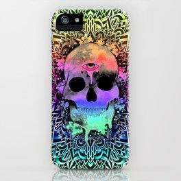 Doodle PsySkull iPhone Case