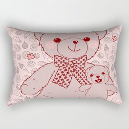 The Adventures of Bear and Baby Bear-Pastry2 Rectangular Pillow