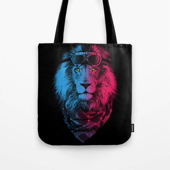 lion rider Tote Bag