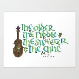 Irish Fiddle Art Print
