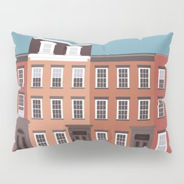 West Village, New York, NYC Travel Poster Pillow Sham