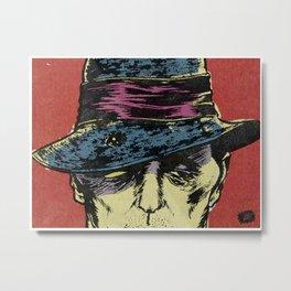 Mystery Man Zoom Metal Print