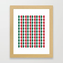 Flag of mexico 2- mexico,mexico city,mexicano,mexicana,latine,peso,spain,Guadalajara,Monterrey Framed Art Print
