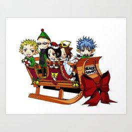 Nana - Black Stones Christmas Art Print
