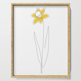 Mustard Daffodil Serving Tray