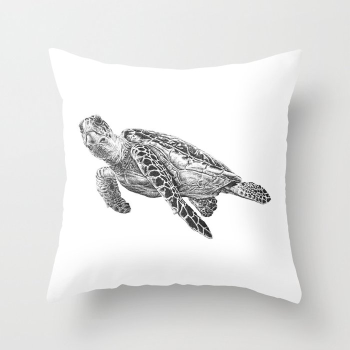 Sea Turtle Throw Pillow By Laurahines