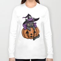 luna Long Sleeve T-shirts featuring Luna  by Miss Cherry Martini