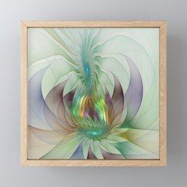 Colorful Shapes, Modern Fractals Art Framed Mini Art Print
