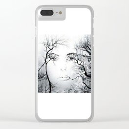 face in the trees Clear iPhone Case
