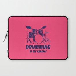 Drumming Is My Cardio Funny Drums Vintage Drummer Distressed Laptop Sleeve