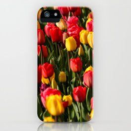 Peace, Love And Tulips iPhone Case