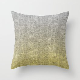 Silver and Gold Glitter Gradient Throw Pillow