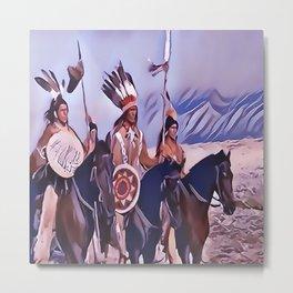 Native American Indian Chief Metal Print