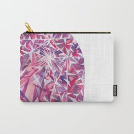 Pink Purple Cushion Gem Carry-All Pouch