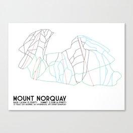 Mount Norquay, Alberta, Canada - Minimalist Trail Art Canvas Print