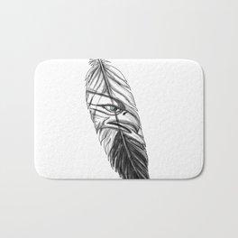 Sea Eagle Feather Tattoo Bath Mat
