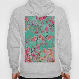 Elegant hand paint watercolor spring floral Hoody