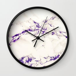 Marble texture with ultra violet purple Wall Clock