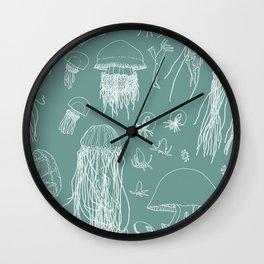 Jellies (Turquoise) Wall Clock