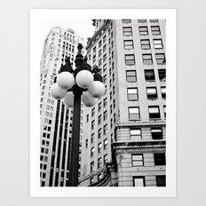 A Chicago Lamp Post Art Print