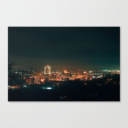 Roanoke In Fog Canvas Print