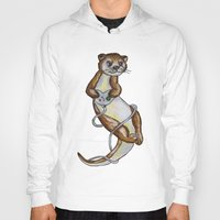 games Hoodies featuring Otter Games by Animal Camp