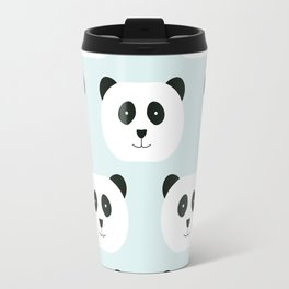 Panda Love- Mint Blue Travel Mug