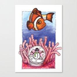 Christmas Clownfish Canvas Print