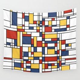 Mondrian De Stijl Pattern Wall Tapestry