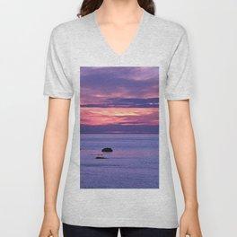 Surreal Sunset Unisex V-Neck