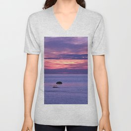 Surreal Sunset Unisex V-Neck
