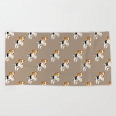 Beagle Pattern Beach Towel