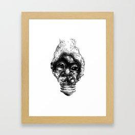 Graphic face Framed Art Print