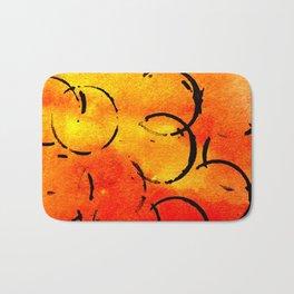 dotted Orange Bath Mat