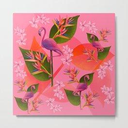 Flamingo Bird of Paradise Metal Print