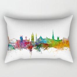 Newcastle England Skyline Cityscape Rectangular Pillow