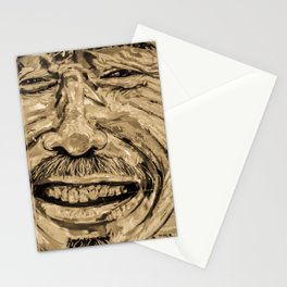 Human Face Graffiti (Gold) Stationery Cards
