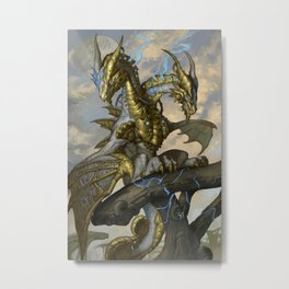 Zodiac Dragons Calendar Gemini Metal Print