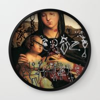 madonna Wall Clocks featuring Madonna  by Mexicanfood
