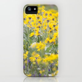 Meadow Gold - Wildflowers in a Mountain Meadow iPhone Case