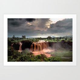 Nile Falls Art Print