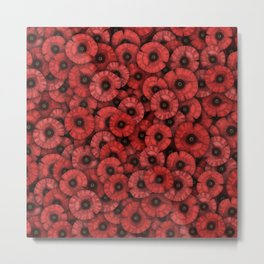 Poppies pattern Metal Print