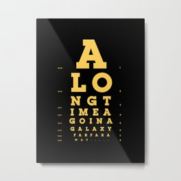 Jed Eye Chart Metal Print