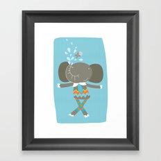 happy elephant Framed Art Print
