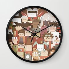 The Nick Yorkers family portrait  Wall Clock