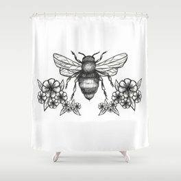 give me some sugar, little honey bee Shower Curtain