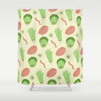 zombie Shower Curtains featuring Zombie by Paula García
