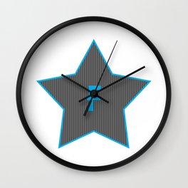 Initials   Star   F Wall Clock
