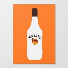 Malibu Bottle Canvas Print